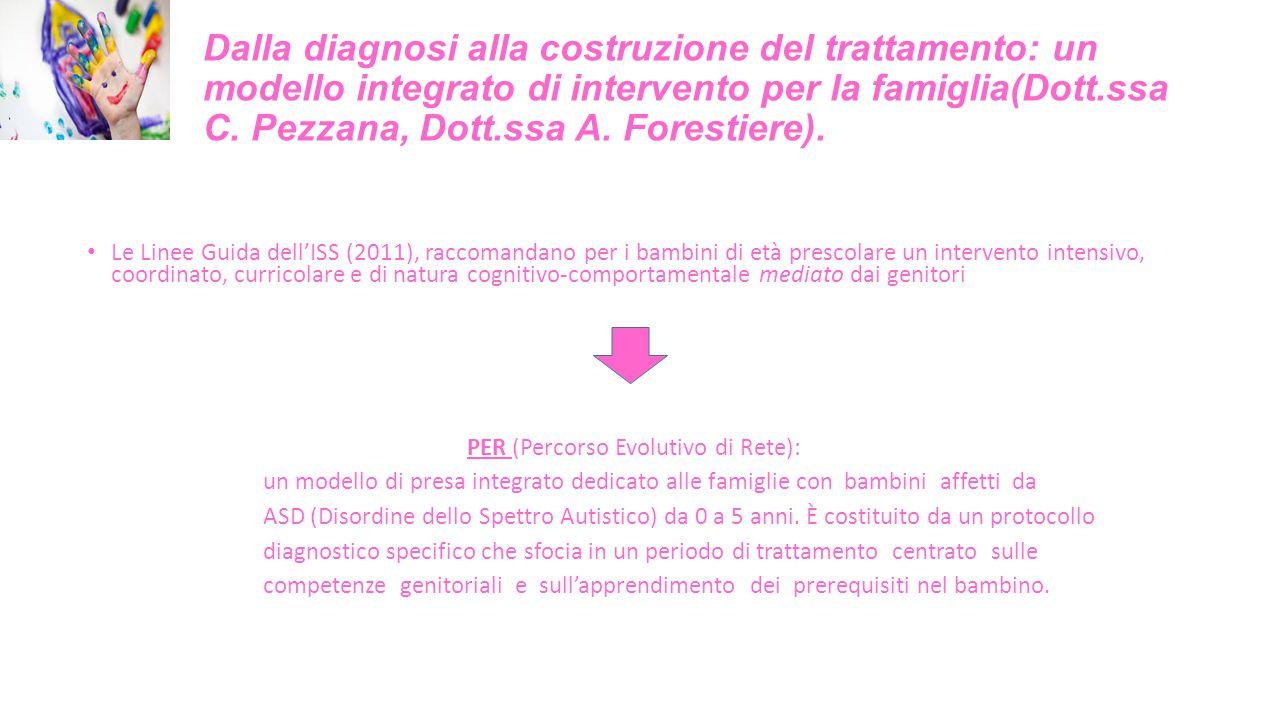 Dalla diagnosi alla costruzione del trattamento: un modello integrato di intervento per la famiglia(Dott.ssa C. Pezzana, Dott.ssa A. Forestiere).