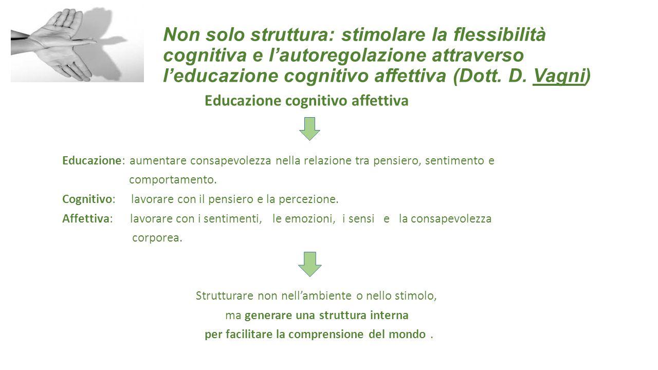 Non solo struttura: stimolare la flessibilità cognitiva e l'autoregolazione attraverso l'educazione cognitivo affettiva (Dott. D. Vagni)