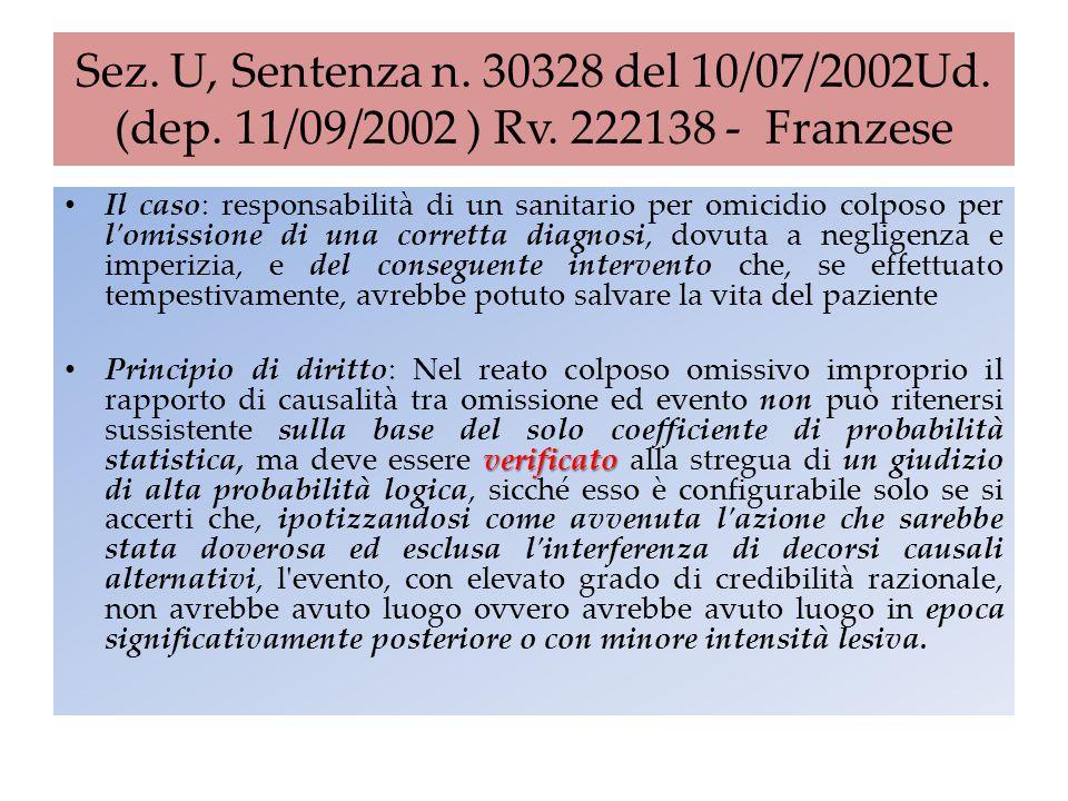 Sez. U, Sentenza n. 30328 del 10/07/2002Ud. (dep. 11/09/2002 ) Rv