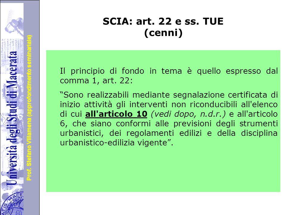 SCIA: art. 22 e ss. TUE (cenni)