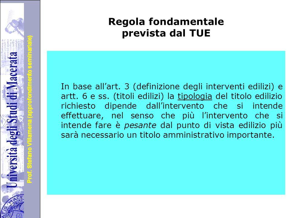 Regola fondamentale prevista dal TUE