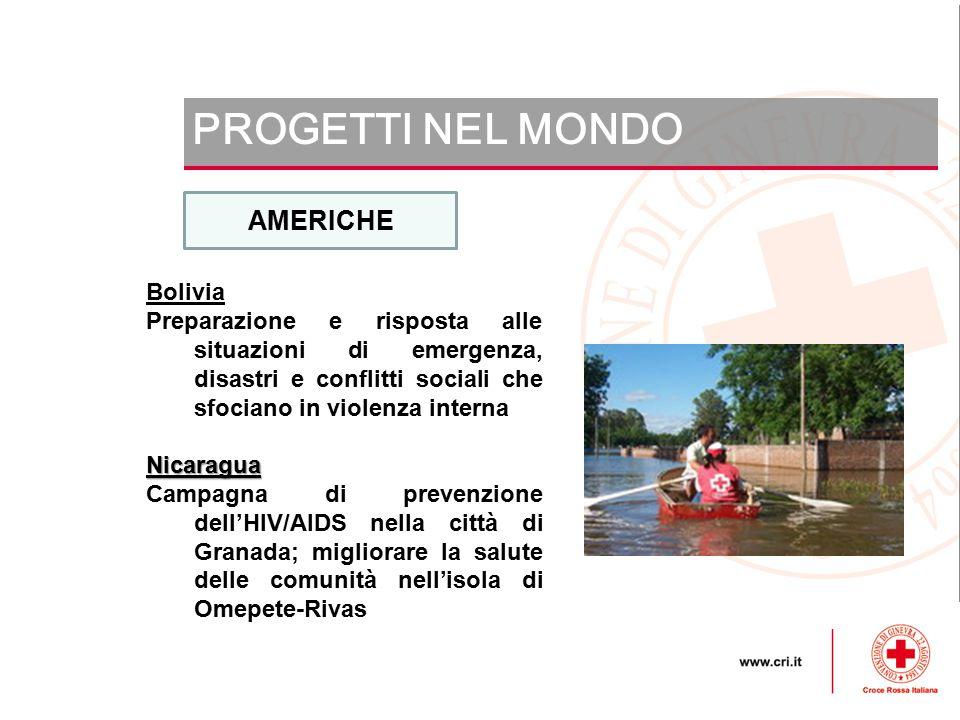 PROGETTI NEL MONDO AMERICHE Bolivia
