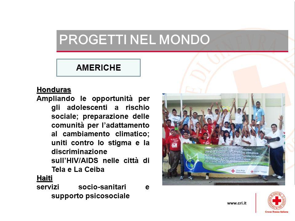 PROGETTI NEL MONDO AMERICHE Honduras