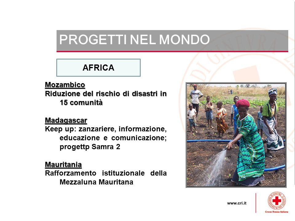 PROGETTI NEL MONDO AFRICA Mozambico