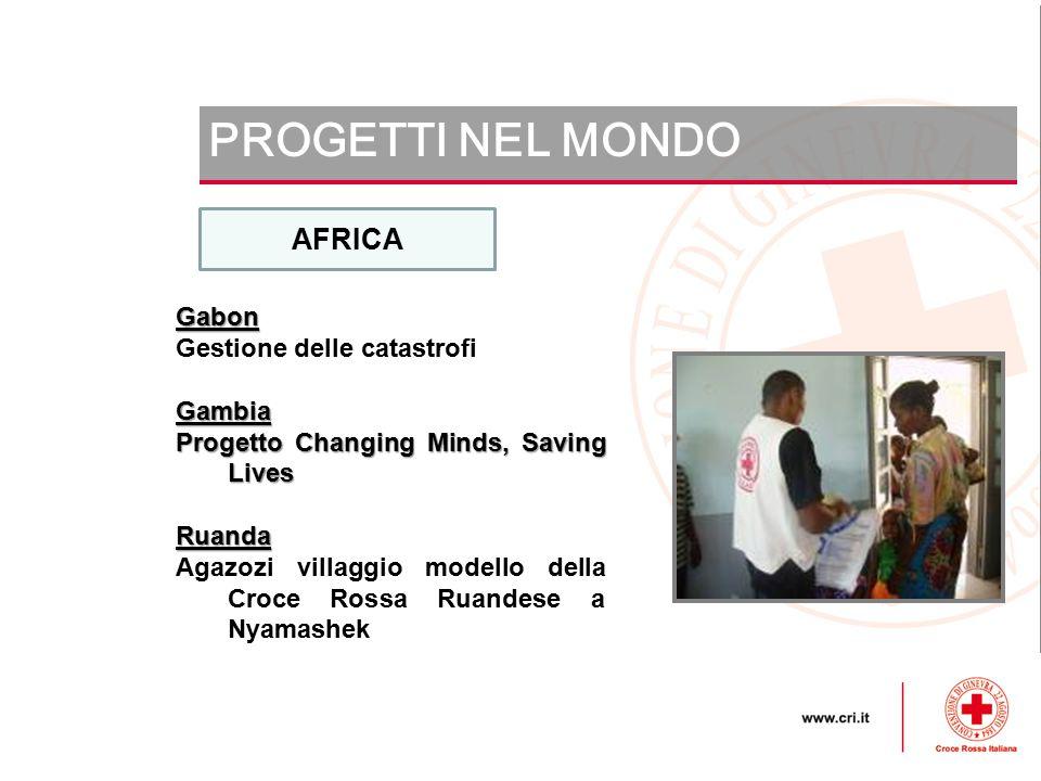 PROGETTI NEL MONDO AFRICA Gabon Gestione delle catastrofi Gambia
