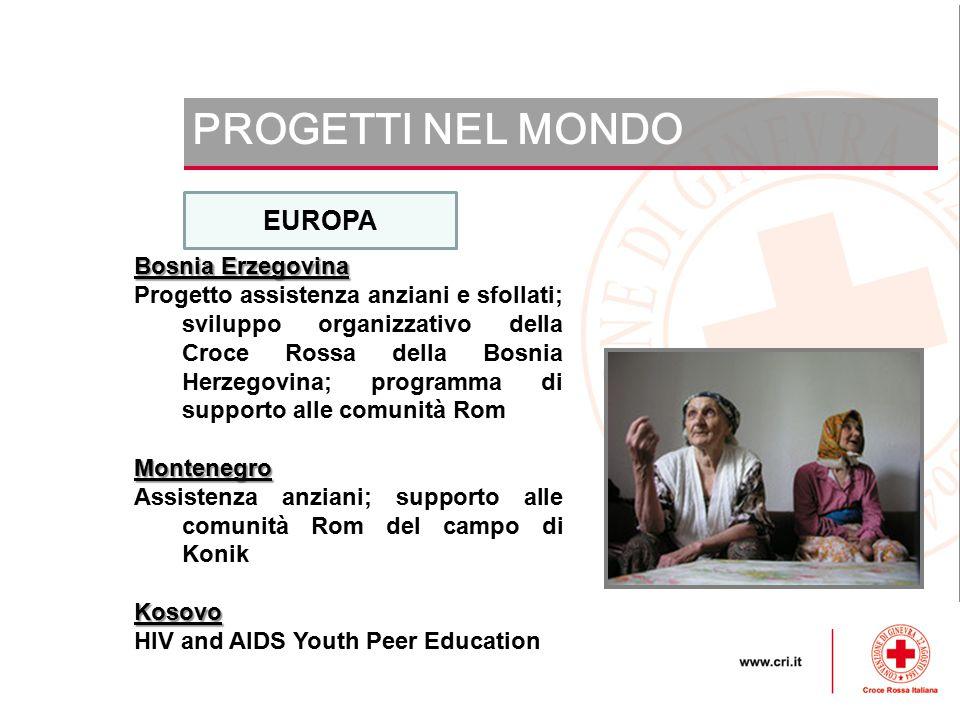 PROGETTI NEL MONDO EUROPA Bosnia Erzegovina