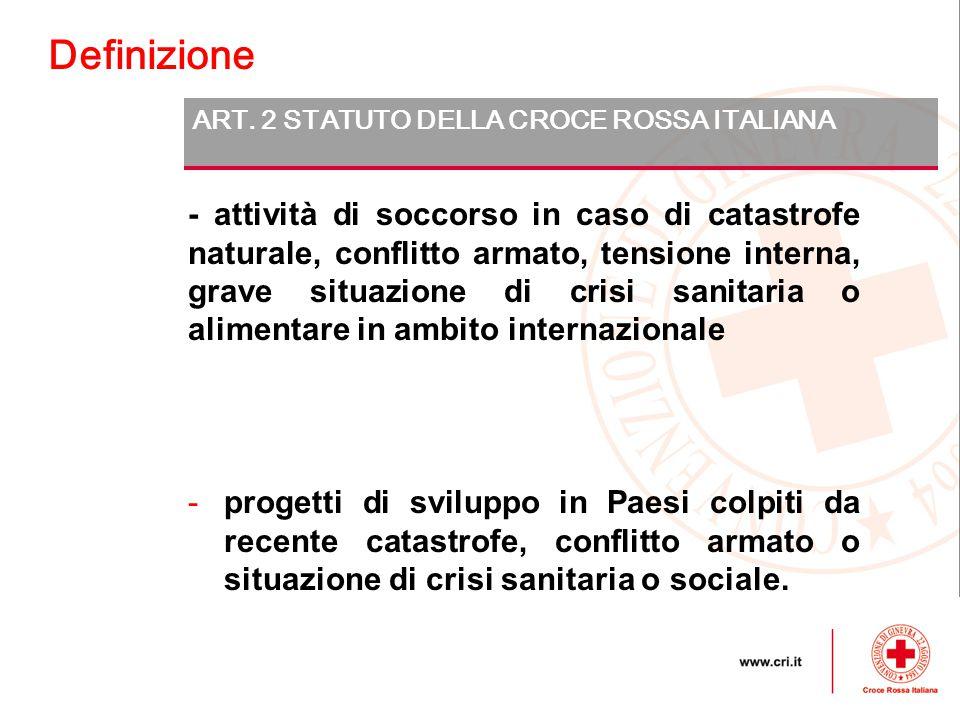 Definizione ART. 2 STATUTO DELLA CROCE ROSSA ITALIANA.
