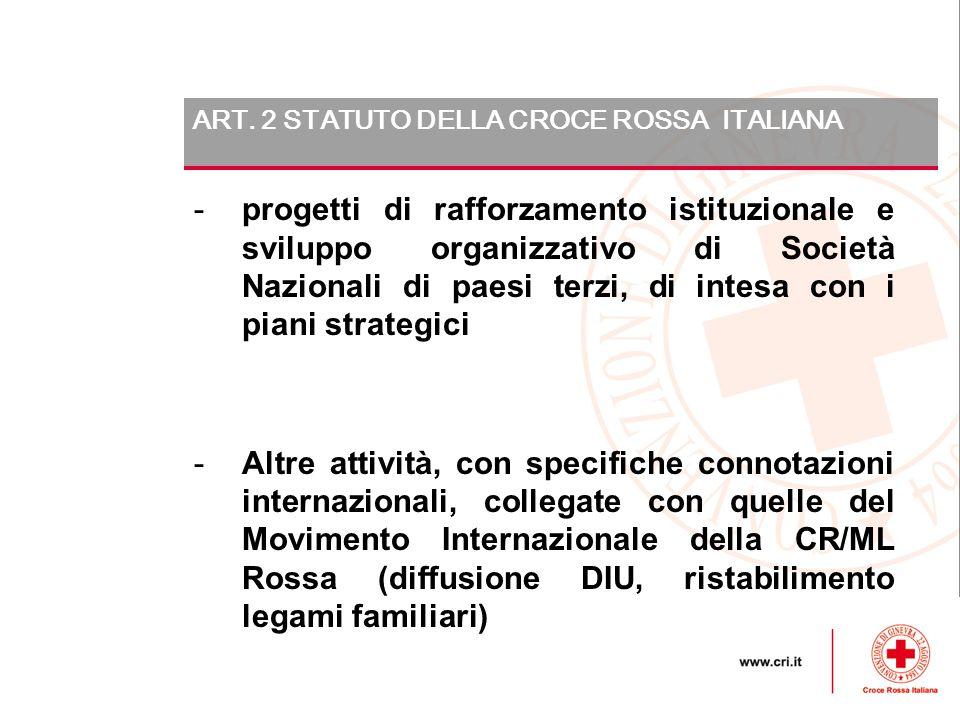 ART. 2 STATUTO DELLA CROCE ROSSA ITALIANA