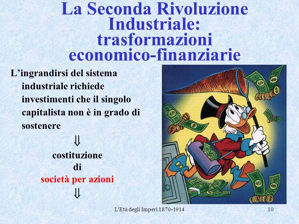 La Seconda Rivoluzione Industriale: trasformazioni economico-finanziarie