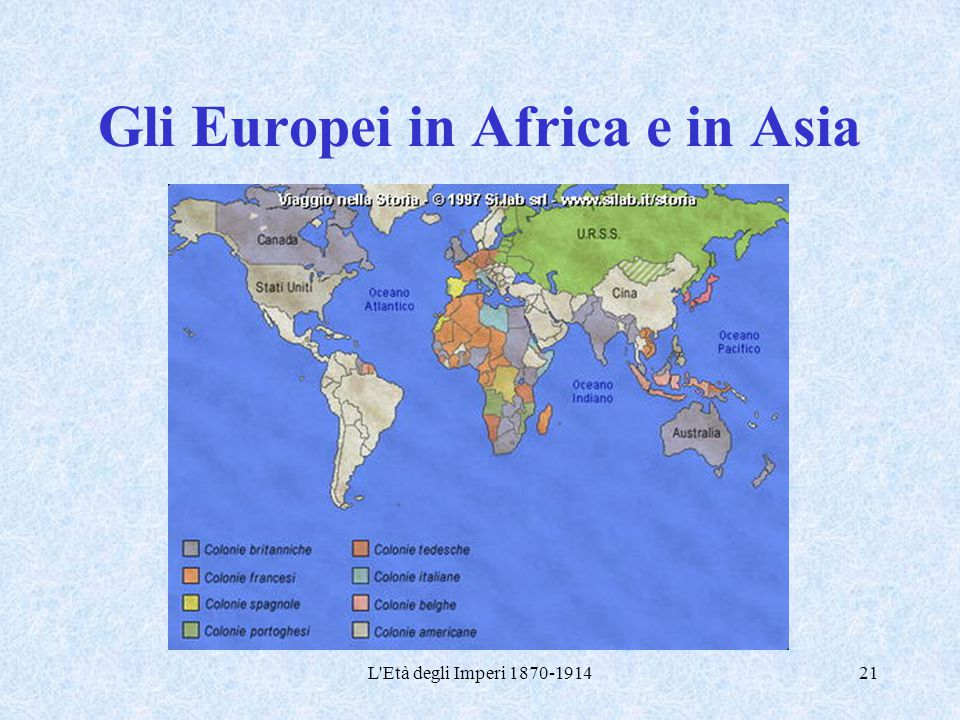Gli Europei in Africa e in Asia