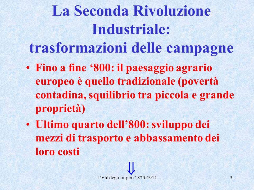 La Seconda Rivoluzione Industriale: trasformazioni delle campagne