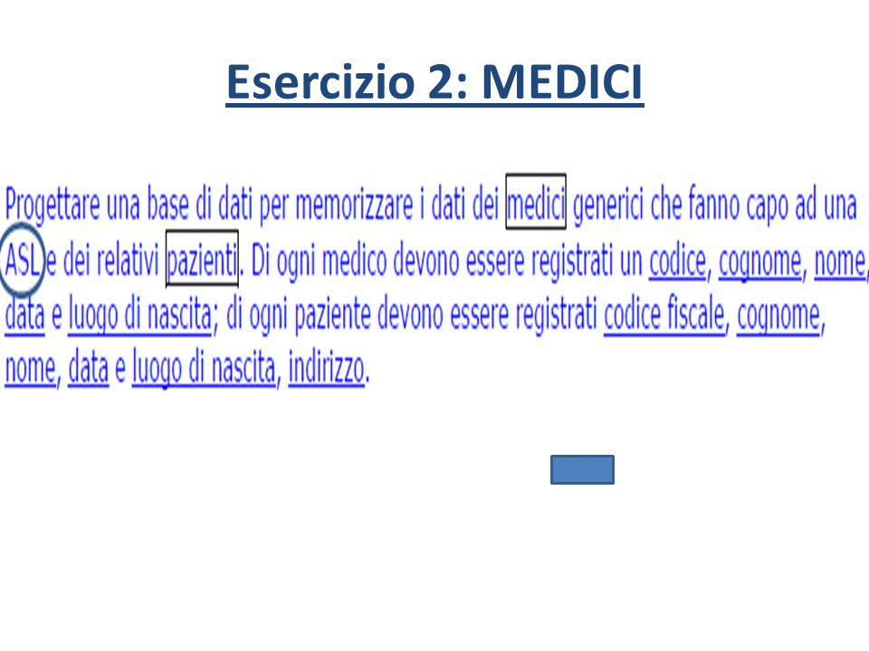 Esercizio 2: MEDICI