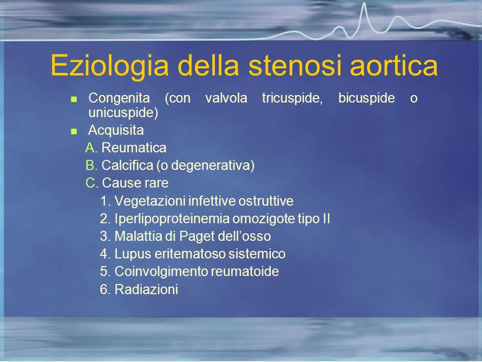 Eziologia della stenosi aortica