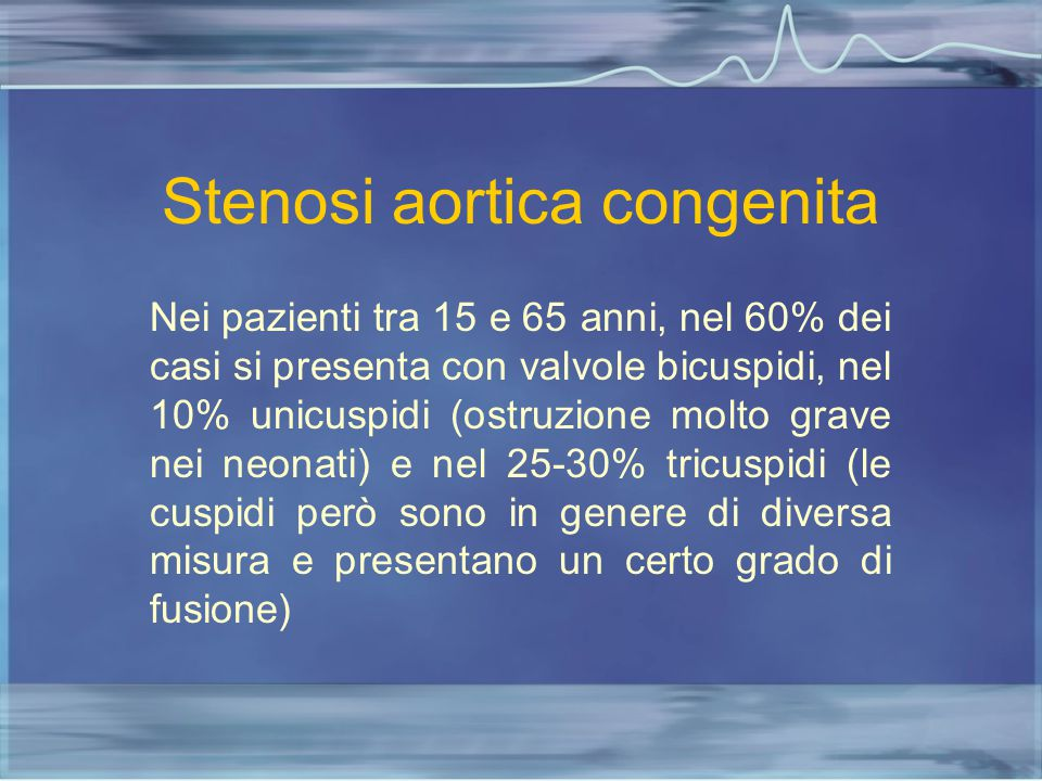 Stenosi aortica congenita