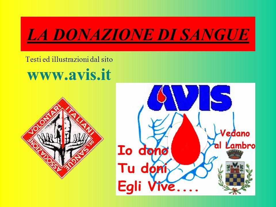 Testi ed illustrazioni dal sito www.avis.it