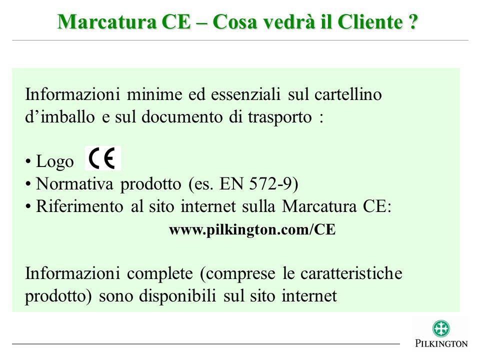 Marcatura CE – Cosa vedrà il Cliente