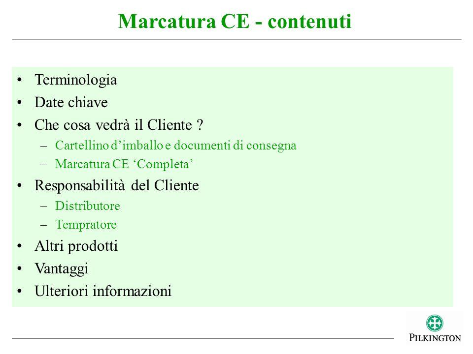 Marcatura CE - contenuti