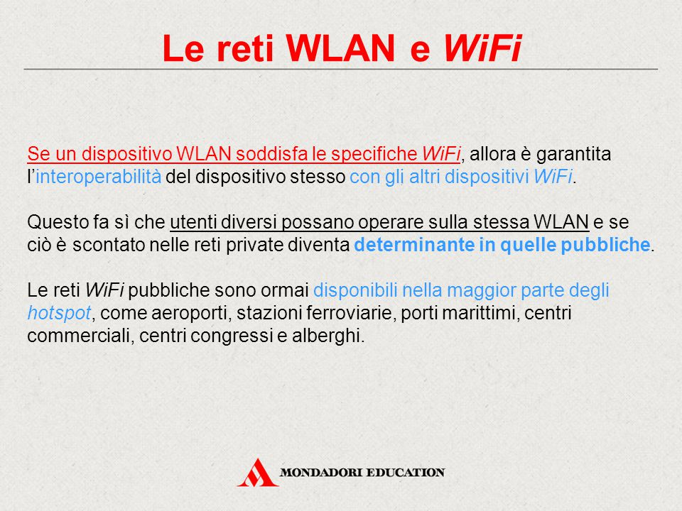 Le reti WLAN e WiFi
