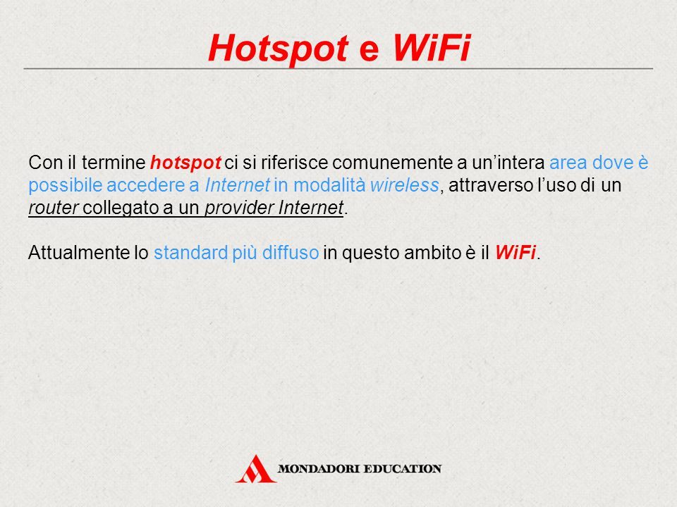 Hotspot e WiFi