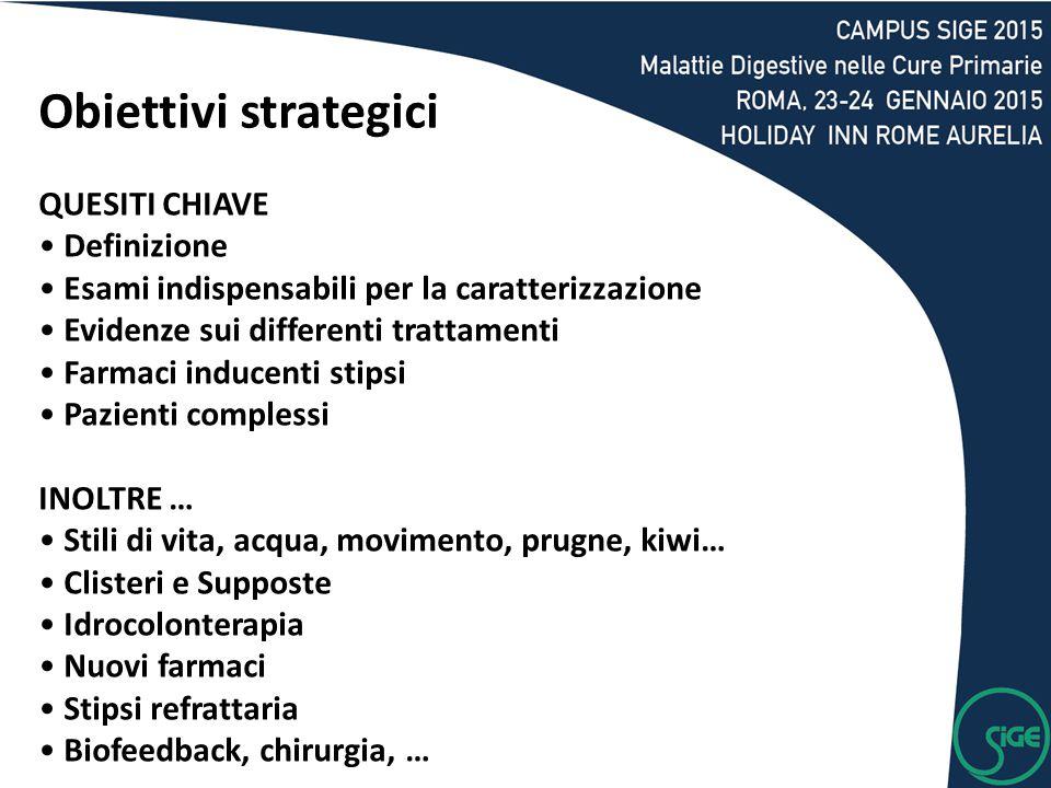 Obiettivi strategici QUESITI CHIAVE Definizione