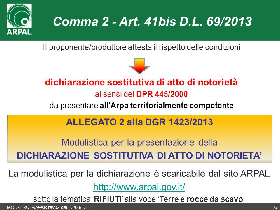 DICHIARAZIONE SOSTITUTIVA DI ATTO DI NOTORIETA'