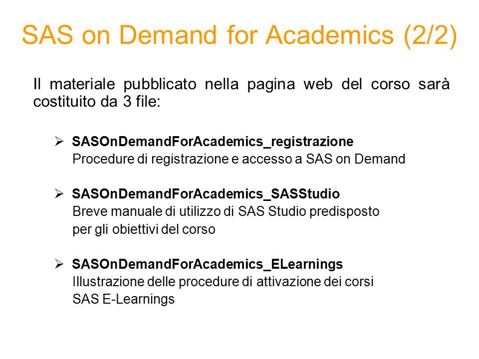 SAS on Demand for Academics (2/2)