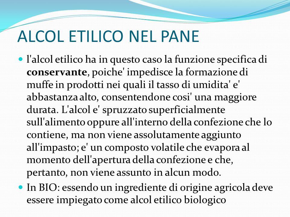 ALCOL ETILICO NEL PANE