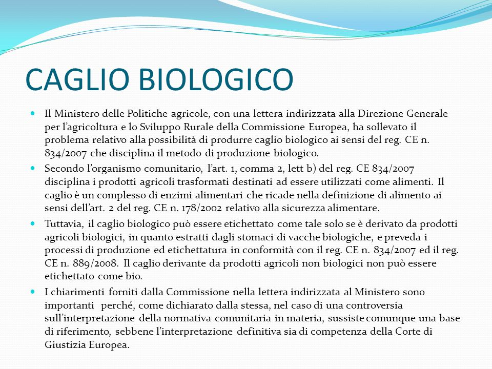CAGLIO BIOLOGICO
