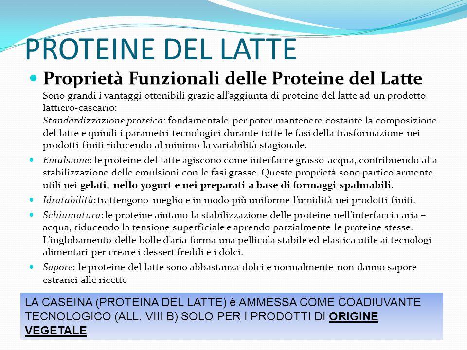 PROTEINE DEL LATTE