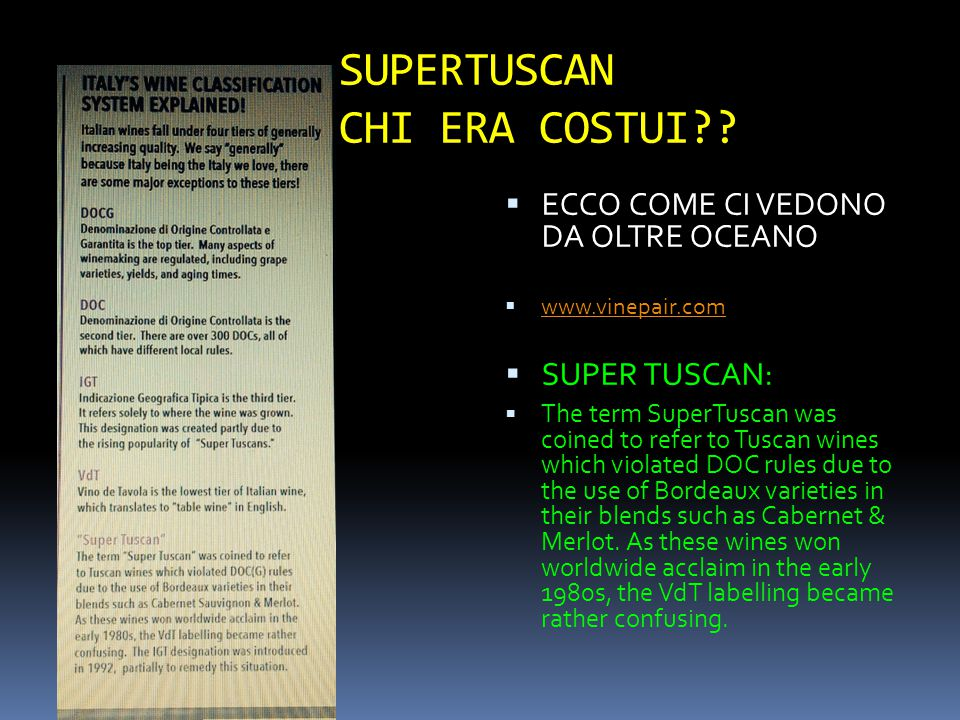 SUPERTUSCAN CHI ERA COSTUI