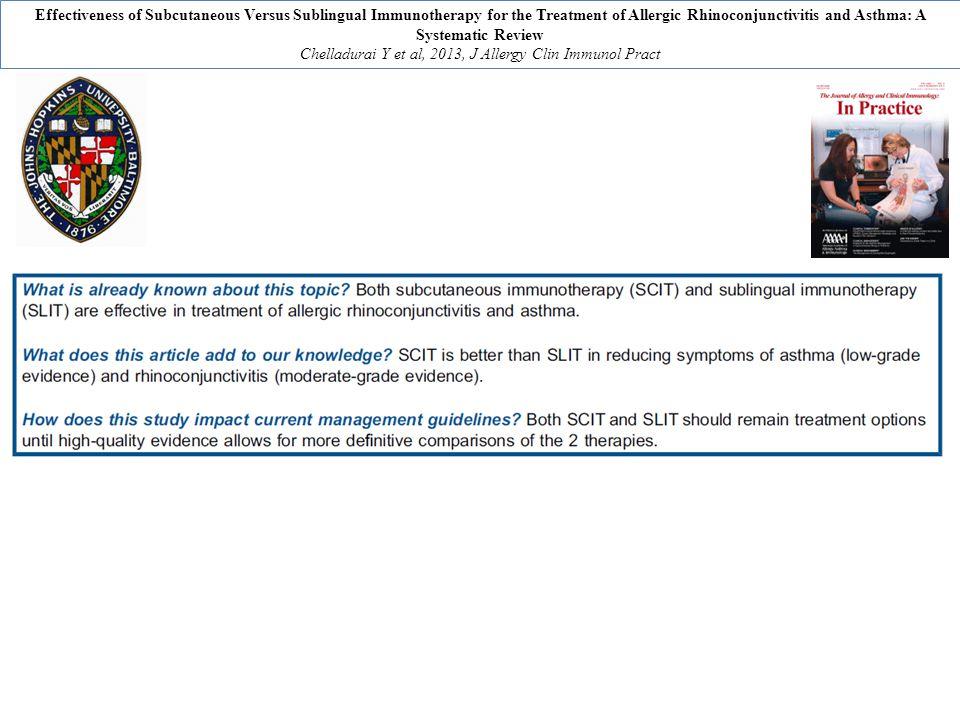 Chelladurai Y et al, 2013, J Allergy Clin Immunol Pract
