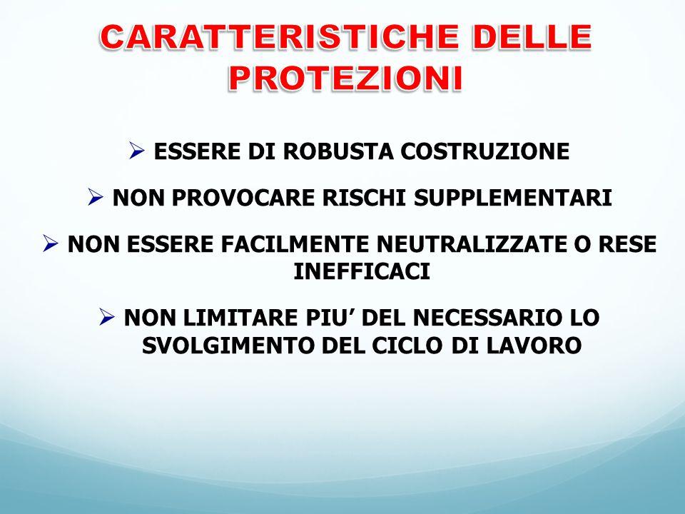 CARATTERISTICHE DELLE PROTEZIONI