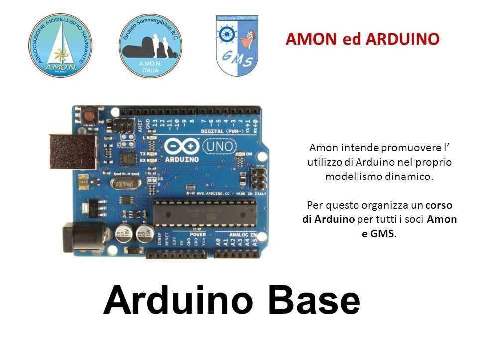 Per questo organizza un corso di Arduino per tutti i soci Amon e GMS.