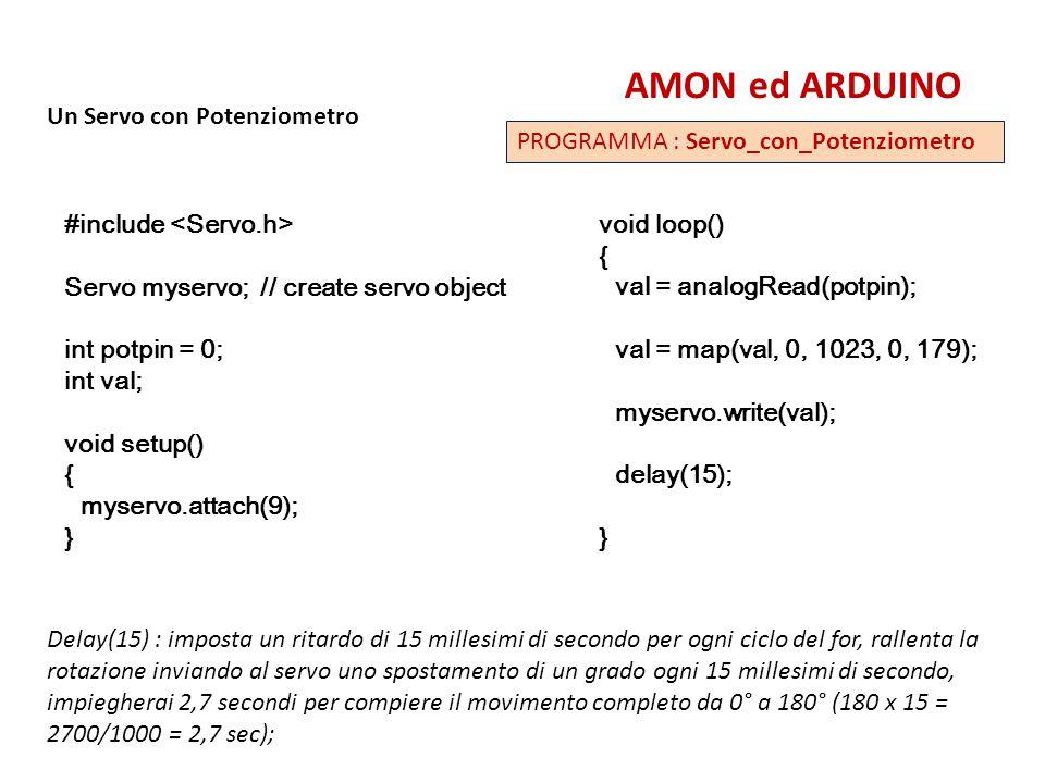 AMON ed ARDUINO Un Servo con Potenziometro