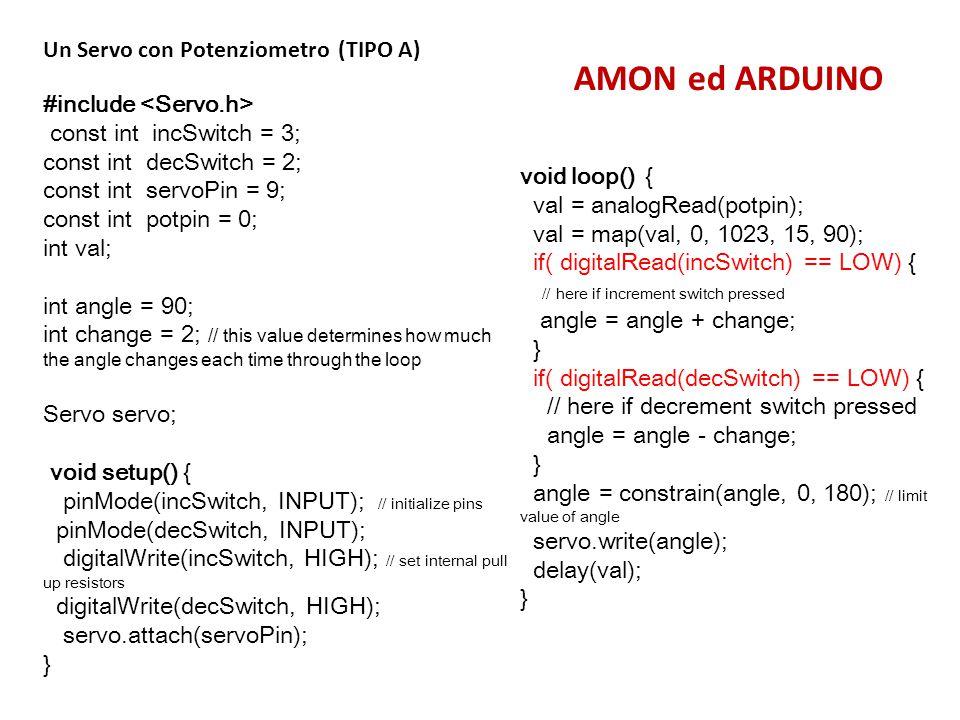 AMON ed ARDUINO Un Servo con Potenziometro (TIPO A)