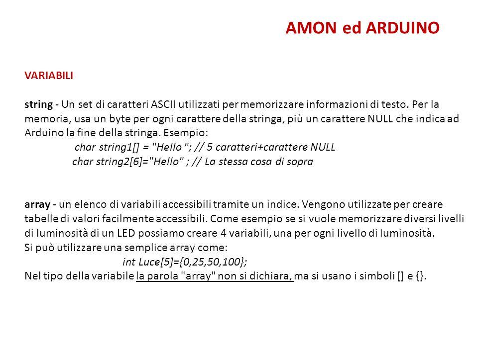 AMON ed ARDUINO VARIABILI