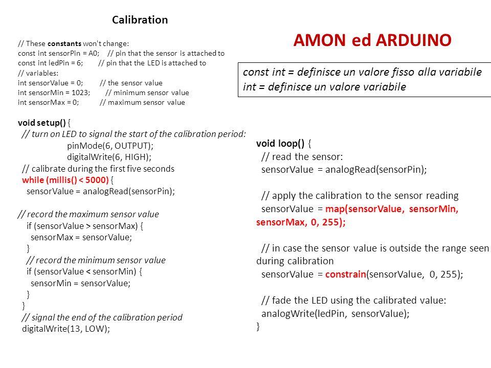 AMON ed ARDUINO Calibration
