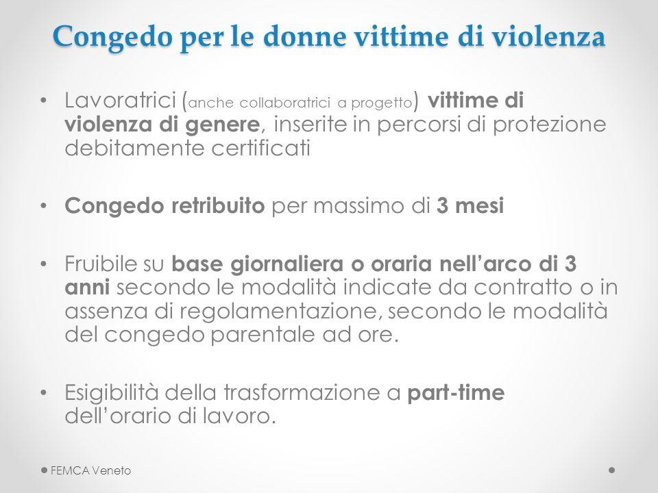 Congedo per le donne vittime di violenza