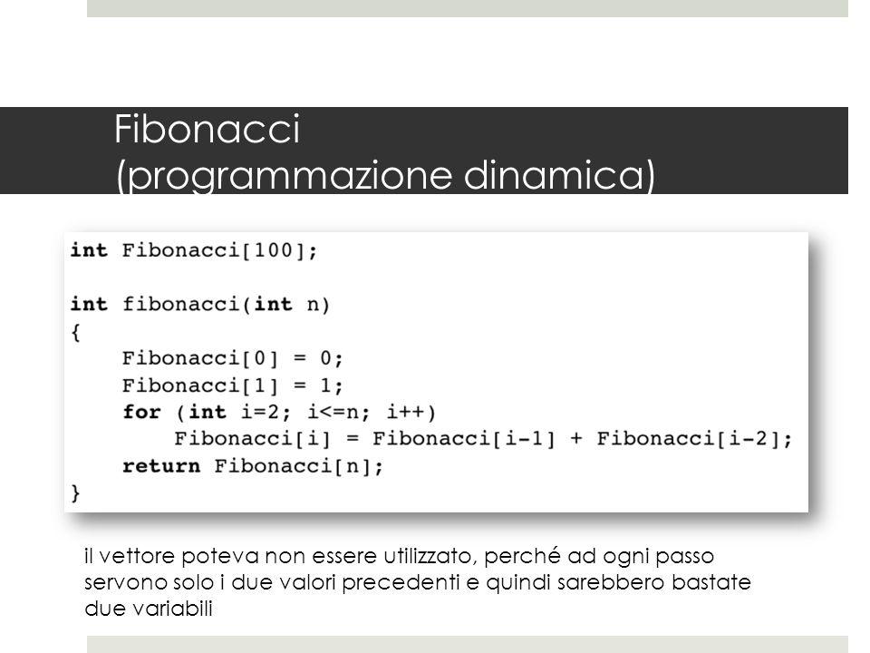 Fibonacci (programmazione dinamica)