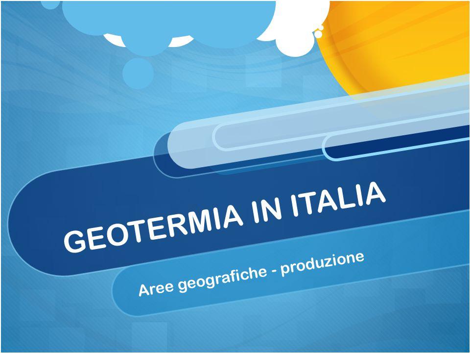 Aree geografiche - produzione