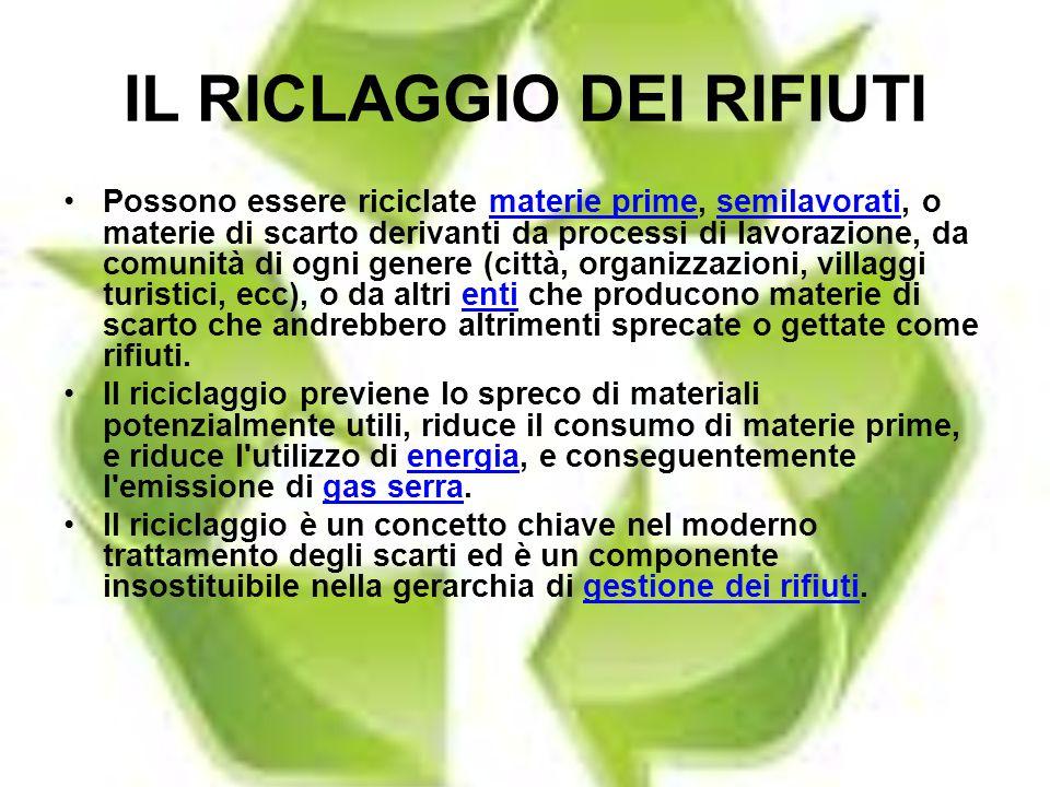 IL RICLAGGIO DEI RIFIUTI
