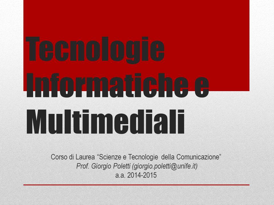 Tecnologie Informatiche e Multimediali