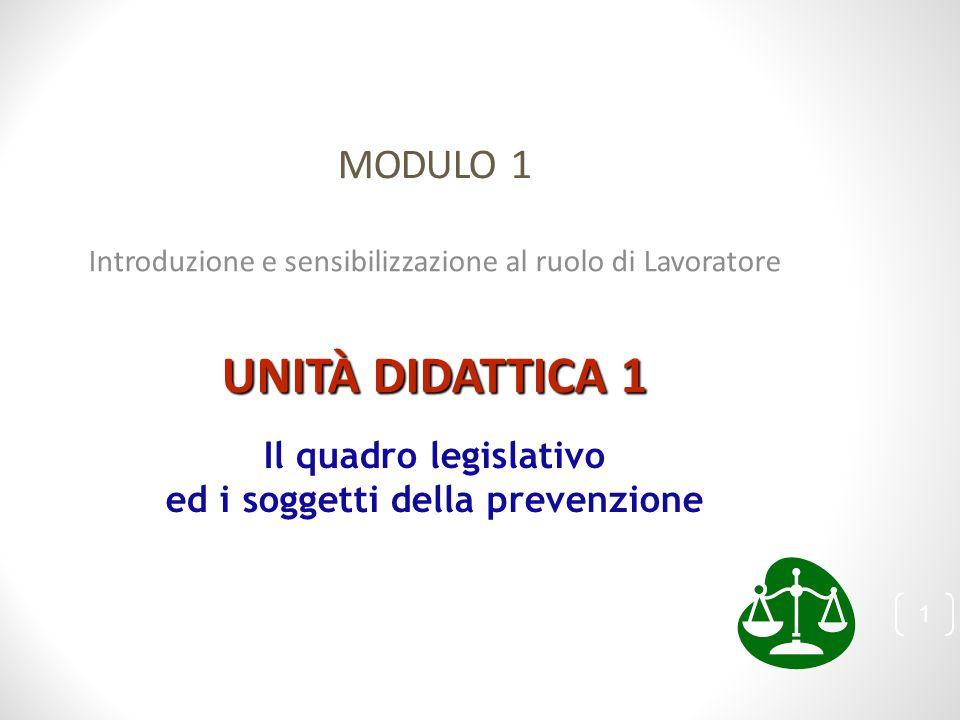 Il quadro legislativo ed i soggetti della prevenzione