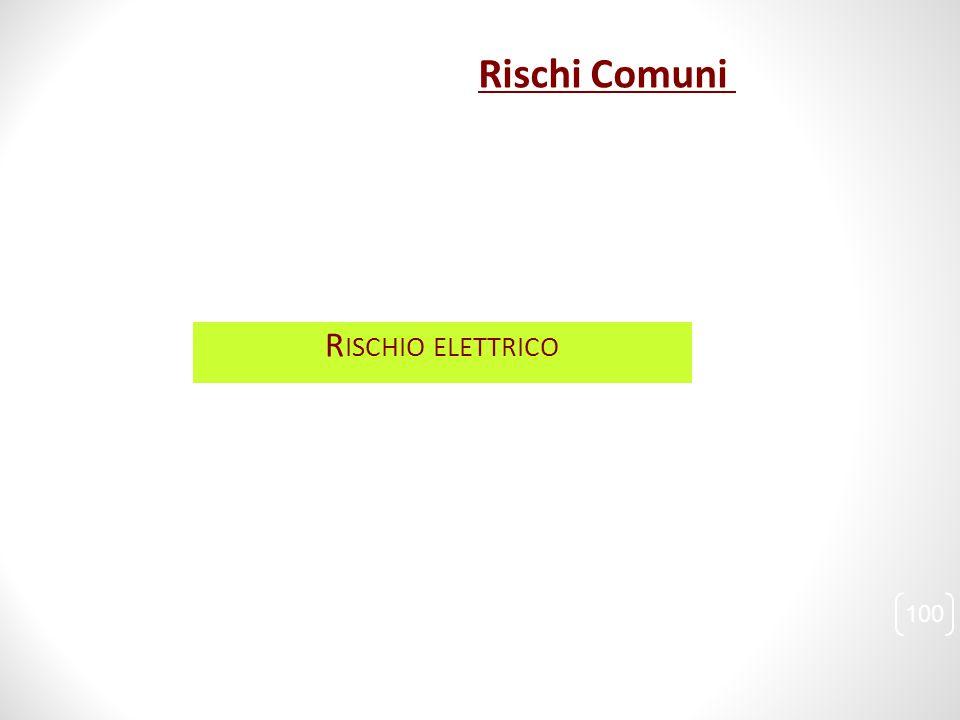 Rischi Comuni Rischio elettrico