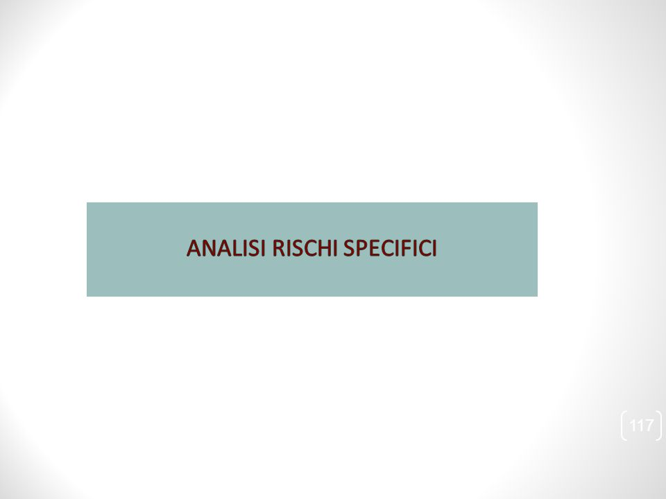 ANALISI RISCHI SPECIFICI