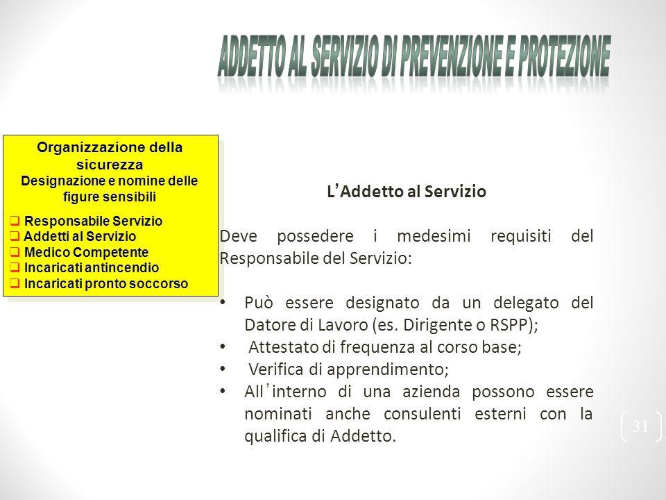 Addetto al Servizio di Prevenzione e Protezione