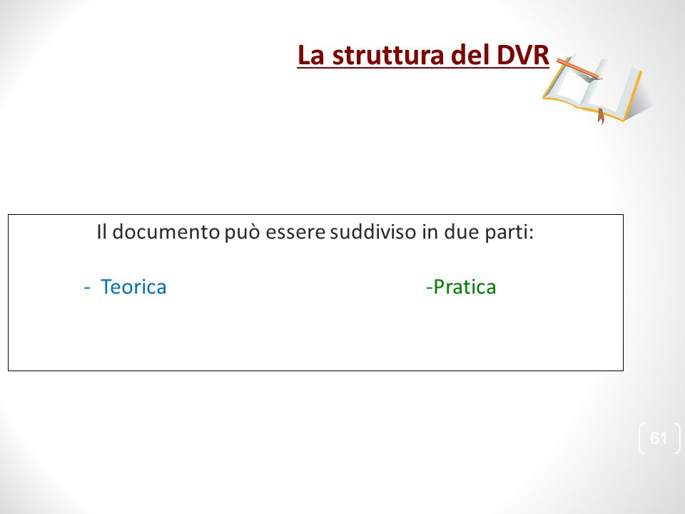 Il documento può essere suddiviso in due parti: