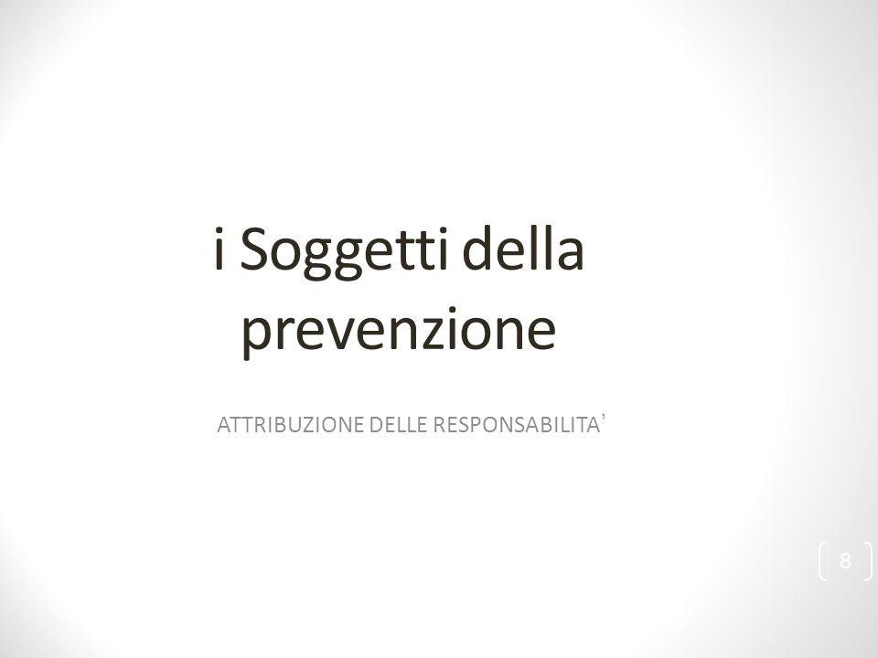i Soggetti della prevenzione