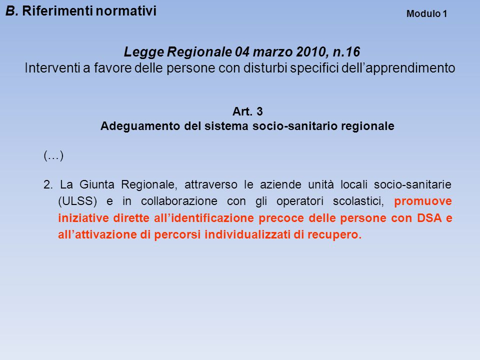 Legge Regionale 04 marzo 2010, n.16