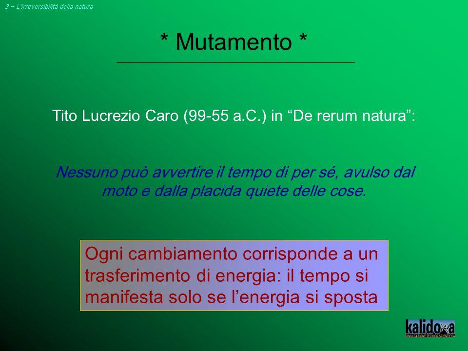 Tito Lucrezio Caro (99-55 a.C.) in De rerum natura :